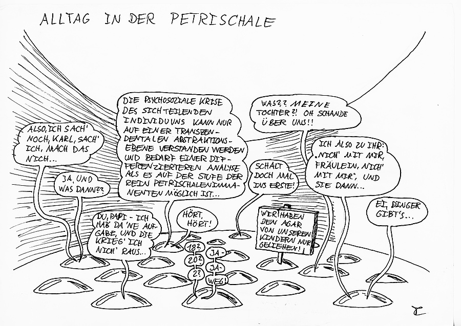 Cartoon: Alltag in der Petrischale
